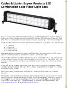 Buyers Products LED Combination Spot-Flood Light Bars