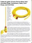 Ericson Perma-Kleen Anti-microbial Plugs, Connectors, Cable, Cord Drops, and Cord Sets