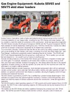 Kubota SSV65 and SSV75 skid steer loaders