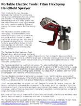 Portable Electric Tools Titan Flexspray Handheld Sprayer