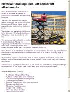 Skid-Lift scissor lift attachments