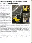 Hyster H300HD2S and H330HD2S industrial lift trucks