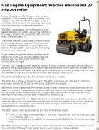 Wacker Neuson RD 27 ride-on roller
