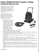 RIDGID RV3410 14 gallon 2-Stage Industrial Wet/Dry Vac