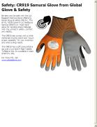 CR919 Samurai Glove from Global Glove & Safety