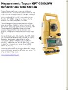 Topcon GPT-3500LNW Reflectorless Total Station