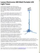 Larson Electronics 400 Watt Portable LED Light Tower