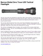 Baccus Global Zero Trace LED Tactical Flashlight