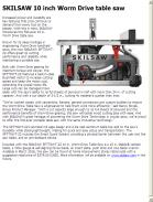 SKILSAW 10 inch Worm Drive table saw