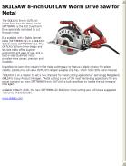 SKILSAW 8-inch OUTLAW Worm Drive Saw for Metal