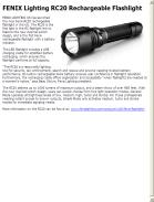 FENIX Lighting RC20 Rechargeable Flashlight