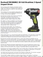 Rockwell RK2868K2 20-Volt Brushless 3-Speed Impact Driver