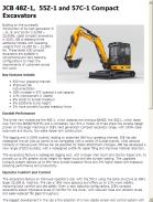 JCB 48Z-1,  55Z-1 and 57C-1 Compact Excavators
