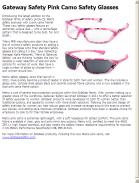 Gateway Safety Pink Camo Safety Glasses