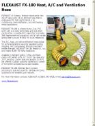 FLEXAUST FX-180 Heat, A/C and Ventilation Hose