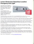 Larson Electronics Hazardous Location Emergency Exit Light