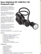 Bayco Nightstick MT-140B Mini-TAC Gooseneck Light