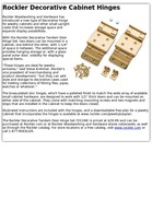 Rockler Decorative Cabinet Hinges