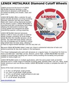 LENOX METALMAX Diamond Cutoff Wheels