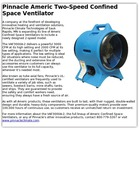 Pinnacle Americ Two-Speed Confined Space Ventilator
