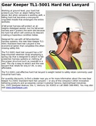 Gear Keeper TL1-5001 Hard Hat Lanyard