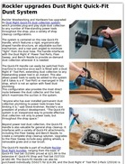 Rockler upgrades Dust Right Quick-Fit Dust System