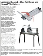 Lackmond Beast/B+BTec Rail Saws and Manual Tile Cutters