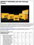 DEWALT TOUGHBox Job Site Storage Chests