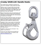 Crosby SHUR-LOC Handle Hooks
