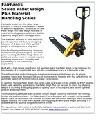 Fairbanks Scales Pallet Weigh Plus Material Handling Scales