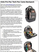 Veto Pro Pac Tech Pac Camo Backpack