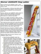 Werner LEANSAFE Step Ladder