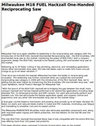 Milwaukee M18 FUEL Hackzall One-Handed Reciprocating Saw