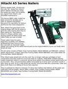 Hitachi A5 Series Nailers
