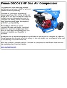 Puma DG5522HP Gas Air Compressor