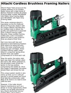 Hitachi Cordless Brushless Framing Nailers