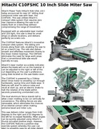Hitachi C10FSHC 10 Inch Slide Miter Saw