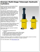 Enerpac Multi-Stage Telescopic Hydraulic Cylinders