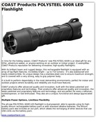 COAST Products POLYSTEEL 600R LED Flashlight