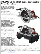 SKILSAW 16-5/16-Inch Super Sawsquatch Worm Drive Saw