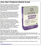 Five Star Products Hybrid Grout