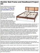 Rockler Bed Frame and Headboard Project Kit