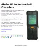Glacier M3 Series Handheld Computers