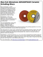 Rex-Cut Abrasives ADVANTAGE Ceramic Grinding Discs