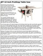JET 10 Inch ProShop Table Saw