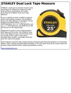 STANLEY Dual Lock Tape Measure