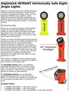 Nightstick INTRANT Intrinsically Safe Right Angle Lights