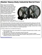 Master Heavy-Duty Industrial Barrel Fans