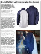 Black Stallion Lightweight Welding Jacket