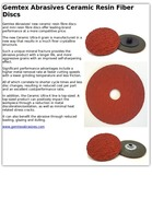 Gemtex Abrasives Ceramic Resin Fiber Discs